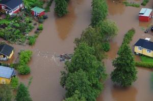 översvämning Kristinehamn